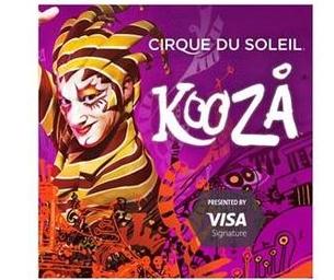 4 Tickets to Giveaway- KOOZA Cirque du Soleil