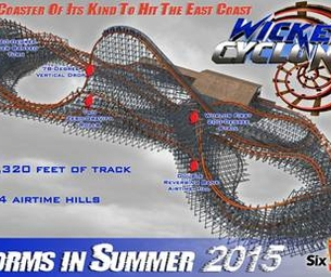 Wicked Cyclone STORMS into Six Flags New England This Weekend - Review