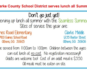 Clarke County School District Serves Lunch All Summer!