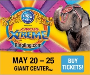 Ringling Bros & Barnum & Bailey Circus coming to Hershey Giant Center!