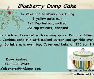 Bean Pot Blueberry Dump Cake