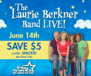 Laurie Berkner at iPlay America ~Discount Code