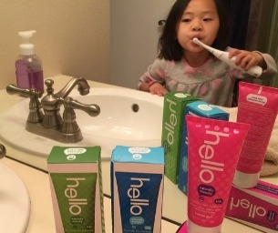 Hello! She's Finally Brushing with hello Naturally Friendly Toothpaste