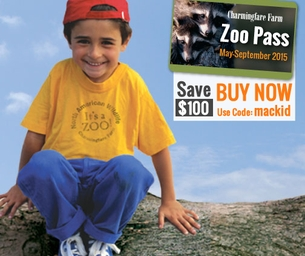 Save $100 on your Zoo Pass {Exclusive discount for Mackid readers}