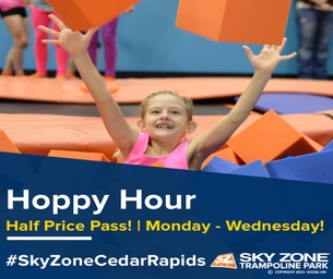 Hoppy Hour at Sky Zone!  ONLY $6!