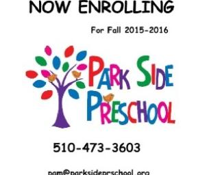 Open Enrollment: Park Side Preschool Newark