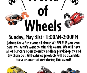 World Of Wheels Event:  May 31 11-2PM