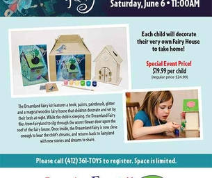 Dreamland Fairy Playdate- Decorate Your Very Own Fairy House