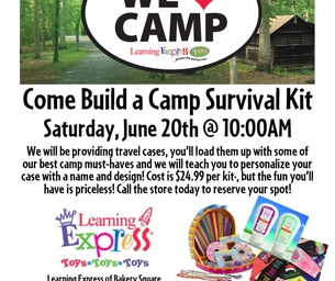 We Love Camp!  Build A Camp Survival Kit