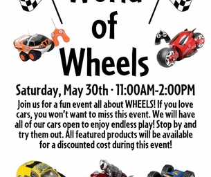 World Of Wheels Event:  May 30 11-2PM