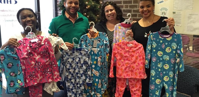 Dropping off pj's to CHD's MaryAnne's Kids!