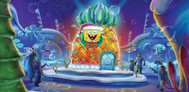 This Week's Highlights - Spongebob Ice Sculpture at Moody Gardens
