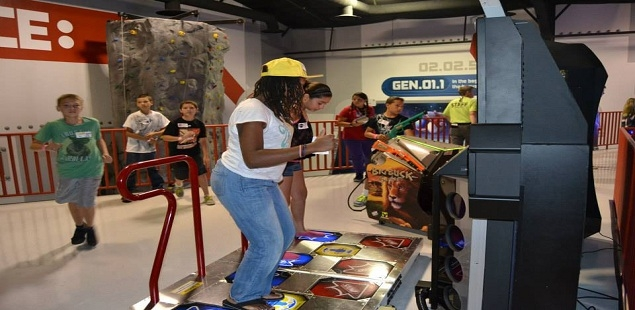The two-story arcade has games for all-ages