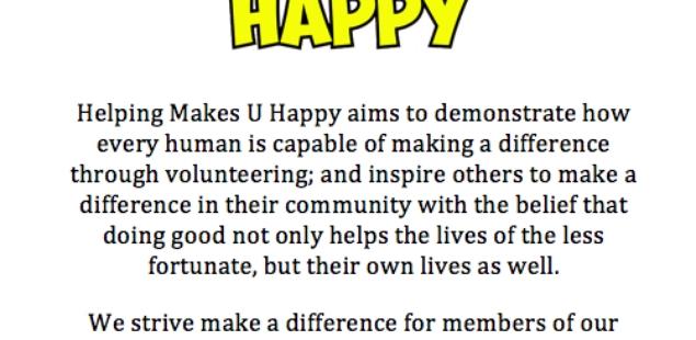 Helping Makes U Happy!