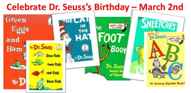 Are You Reading America?  Celebrate Dr. Seuss's Birthday March 2nd
