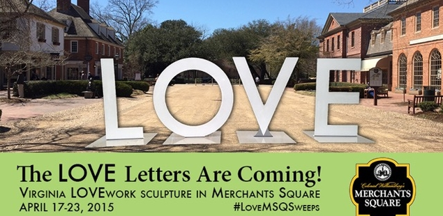 The LOVE Letters Are Coming to Merchants Square