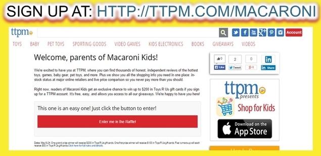 Enter the TTPM Macaroni Kid Sweepstakes!