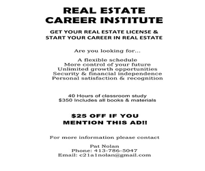 Real Estate Career Institute
