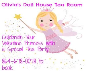 Olivia's Dollhouse Tea Room Valentine's Day