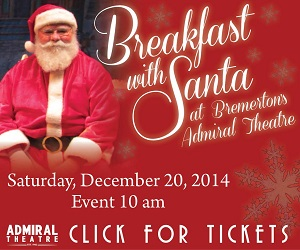 Breakfast With Santa at the Admiral Theatre