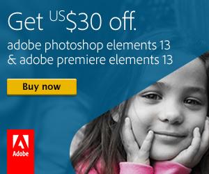Adobe Photoshop Elements $30 off