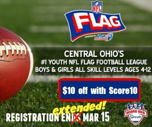 $10 off Flag Football thur 21st