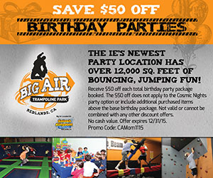 Big Air Birthday ad