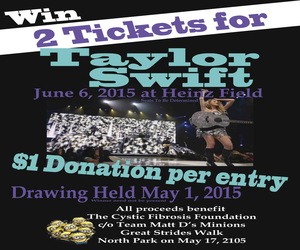 Win 2 Tickets To Taylor Swift