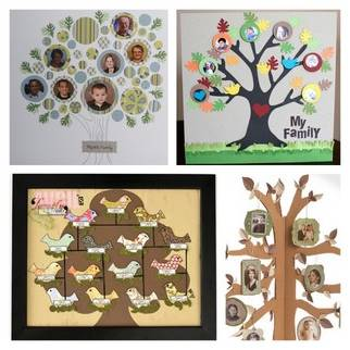 Macaroni made grandparent day craft ideas macaroni kid for How to make the best family tree project