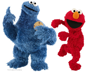 the mets welcome elmo cookie monster macaroni kid